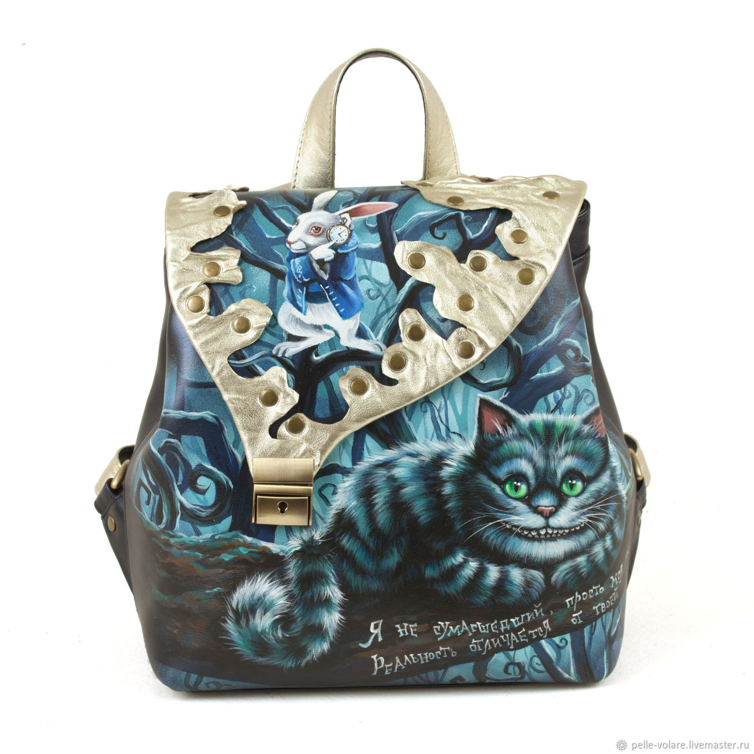 Womens leather backpack 'Cheshire branch', Backpacks, St. Petersburg,  Фото №1