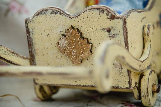 Кукольный дом ручной работы. Ярмарка Мастеров - ручная работа. Купить тележка  для  игрушек.. Handmade. Бежевый, кукольные аксессуары, подарок