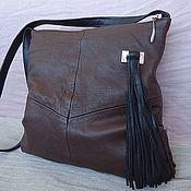 Classic Bag handmade. Livemaster - original item Leather bag with tassel Ref.1-38. Handmade.