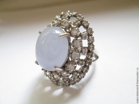 Кольца ручной работы. Ярмарка Мастеров - ручная работа. Купить Кольцо с халцедоном, серебро 925. Handmade. Сиреневый, кольцо с халцедоном