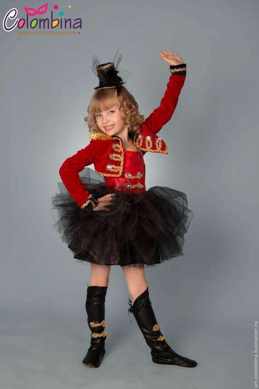 Детские карнавальные костюмы ручной работы. Ярмарка Мастеров - ручная работа. Купить Костюм дрессировщицы. Handmade. Ярко-красный