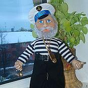 Куклы и игрушки ручной работы. Ярмарка Мастеров - ручная работа текстильная кукла из капрона -боцман. Handmade.
