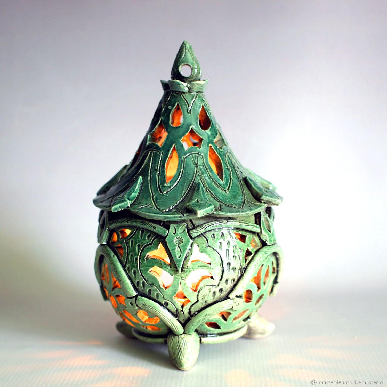 Сказочный фонарик-подсвечник. Керамика, Подсвечники, Новочебоксарск, Фото №1