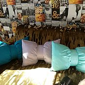 Pillow handmade. Livemaster - original item Cushion BOW Cushion bow - Dumochka in the nursery. Handmade.