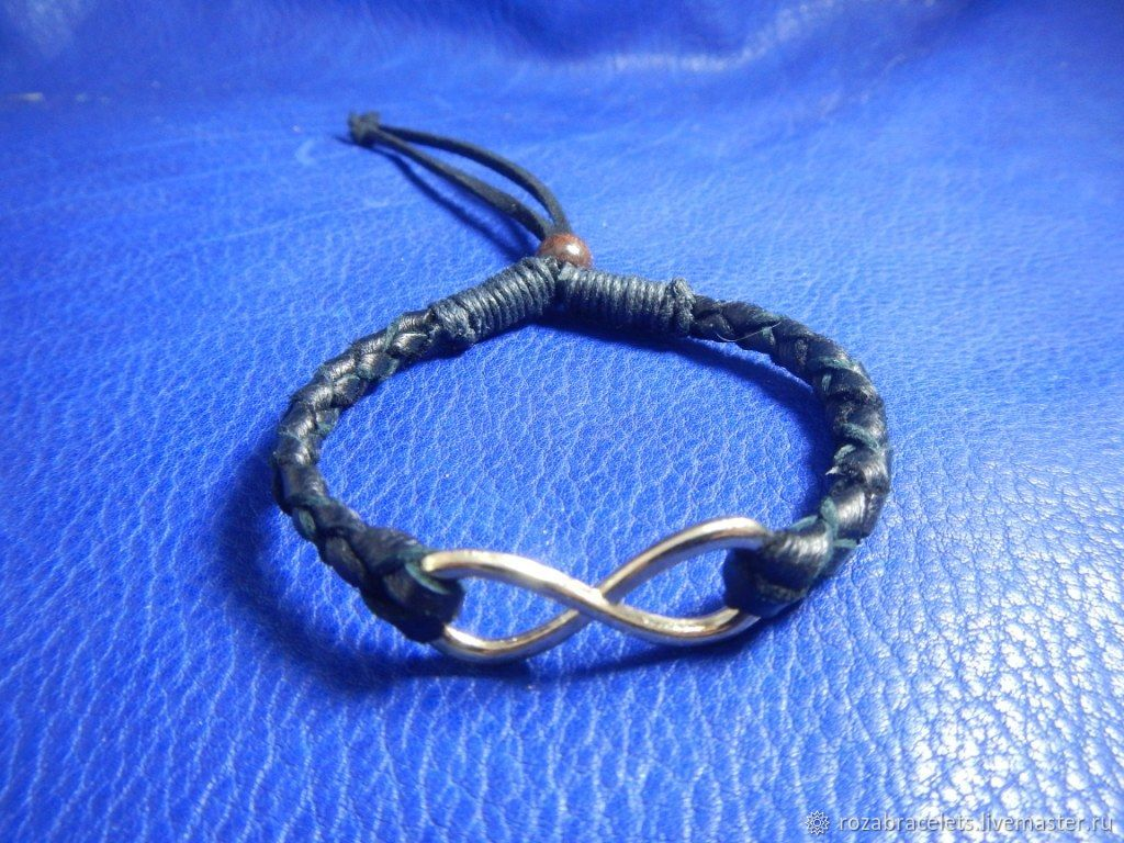 Braided Infinity leather bracelet, Braided bracelet, Ulyanovsk,  Фото №1