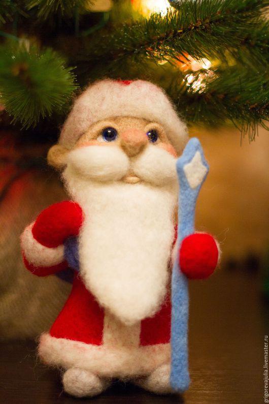 Коллекционные куклы ручной работы. Ярмарка Мастеров - ручная работа. Купить Дед Мороз. Handmade. Комбинированный, Сухое валяние, фелтинг