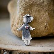 Украшения handmade. Livemaster - original item Pendant of silver angel (silver angel pendant). Handmade.