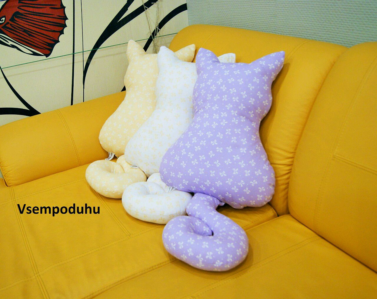 Выкройки подушки на диван