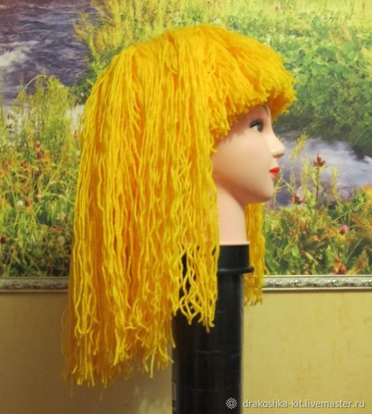 Wigs from threads for suits: Stephanie's Lego, Troubadour, fire, Pippi, Carnival costumes for children, Moscow,  Фото №1