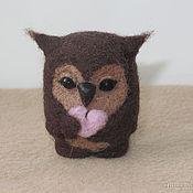 Куклы и игрушки ручной работы. Ярмарка Мастеров - ручная работа Совушка с сердечком. Handmade.