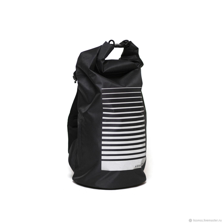 Рюкзаки ручной работы. Ярмарка Мастеров - ручная работа. Купить Большой черный рюкзак со светоотражающим принтом. Handmade. Рюкзак