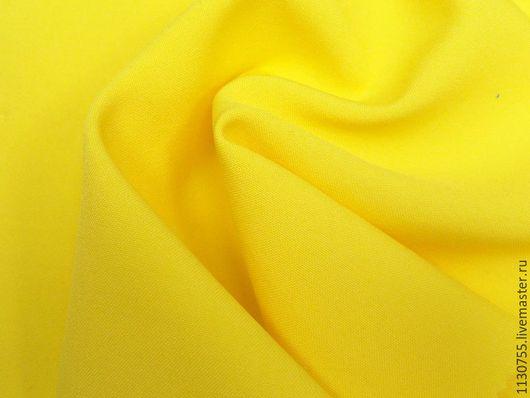 Шитье ручной работы. Ярмарка Мастеров - ручная работа. Купить Ткань габардин  лимонный. Handmade. Лимонный, ткани для рукоделия