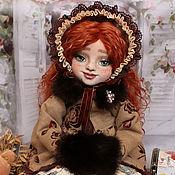 Кукла текстильная Ингрид кукла интерьерная с объемным личиком