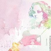Картины и панно ручной работы. Ярмарка Мастеров - ручная работа Портрет по фото (Vanessa Paradis). Handmade.