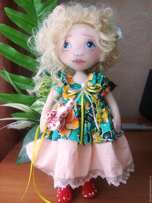 Коллекционные куклы ручной работы. Ярмарка Мастеров - ручная работа. Купить кукла Ангелина. Handmade. Комбинированный, интерьерная игрушка