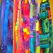 """Аксессуары ручной работы. Ярмарка Мастеров - ручная работа Цветные шарфики """"Яркий акцент"""" батик. Handmade."""