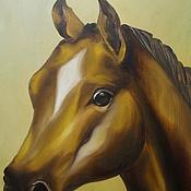 """Картины и панно ручной работы. Ярмарка Мастеров - ручная работа Картина маслом """"Лошадь""""40х60,холст на подрамнике,масло. Handmade."""