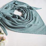 Аксессуары handmade. Livemaster - original item scarves: Knitted scarf made of cashmere with silk mint. Handmade.