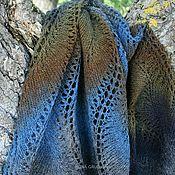 Аксессуары handmade. Livemaster - original item Wool stole (grey-blue-mustard). Handmade.