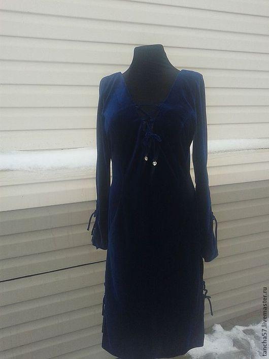 Платья ручной работы. Ярмарка Мастеров - ручная работа. Купить Платье синий бархат. Handmade. Тёмно-синий, вечернее платье