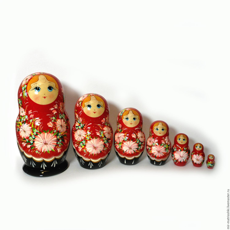 matreshka 7 seater floral (large), Dolls1, Sarov,  Фото №1