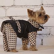 Для домашних животных, ручной работы. Ярмарка Мастеров - ручная работа Комбинезон для собаки ГОРОШКИ. Handmade.