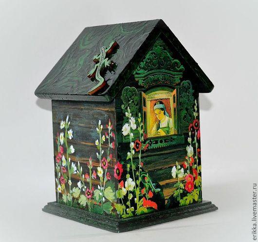 """Кухня ручной работы. Ярмарка Мастеров - ручная работа. Купить Чайный домик """"Сказы Бажова"""". Handmade. Тёмно-зелёный"""