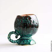 """Посуда ручной работы. Ярмарка Мастеров - ручная работа чашка """"Изумрудная клубника"""". Handmade."""