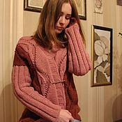 """Одежда ручной работы. Ярмарка Мастеров - ручная работа жакет женский вязаный """"Марсала"""". Handmade."""