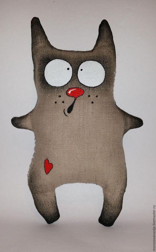 Игрушки животные, ручной работы. Ярмарка Мастеров - ручная работа. Купить Кот. Handmade. Бежевый, котик, коты, кот в подарок