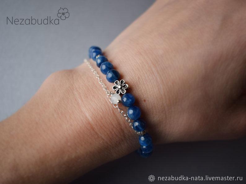 """Серебряный браслет из кианита """"Blue Bliss"""""""
