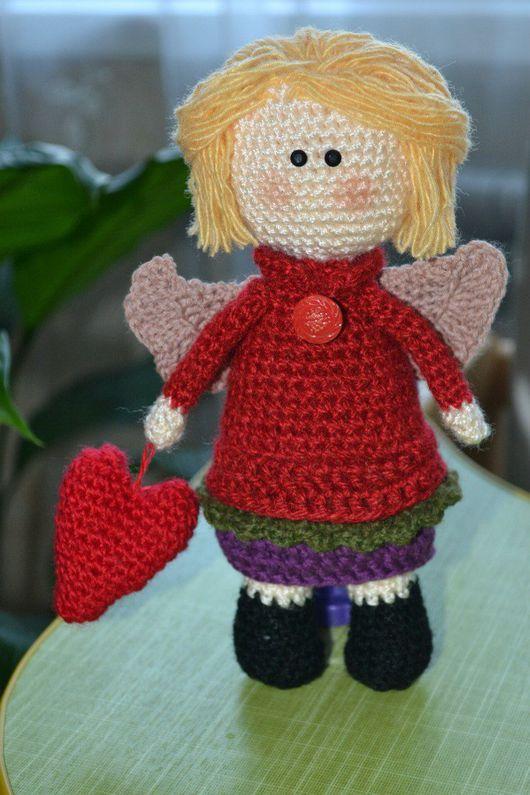 Куклы Тильды ручной работы. Ярмарка Мастеров - ручная работа. Купить Тильда ангел. Handmade. Вязание на заказ, вяжу на заказ