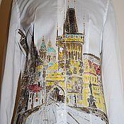 """Одежда ручной работы. Ярмарка Мастеров - ручная работа Рубашка """"Прага"""". Handmade."""