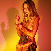 Одежда handmade. Livemaster - original item Jackets: Gold jacket. Handmade.