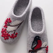 Slippers handmade. Livemaster - original item Felted women`s Slippers. Handmade.
