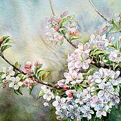 Картины и панно ручной работы. Ярмарка Мастеров - ручная работа Ветка яблони. Handmade.