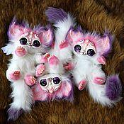 Куклы и игрушки ручной работы. Ярмарка Мастеров - ручная работа Влюбленные кошачьи зверьки. Handmade.