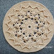 Для дома и интерьера handmade. Livemaster - original item A Mat of polyester cord Sun. Handmade.