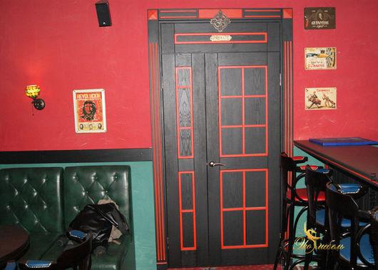 Элементы интерьера ручной работы. Ярмарка Мастеров - ручная работа. Купить Двери нестандартного размера из шпона. Handmade. Коричневый