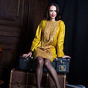"""Одежда ручной работы. Ярмарка Мастеров - ручная работа Валяное платье """"Янтарь"""". Handmade."""
