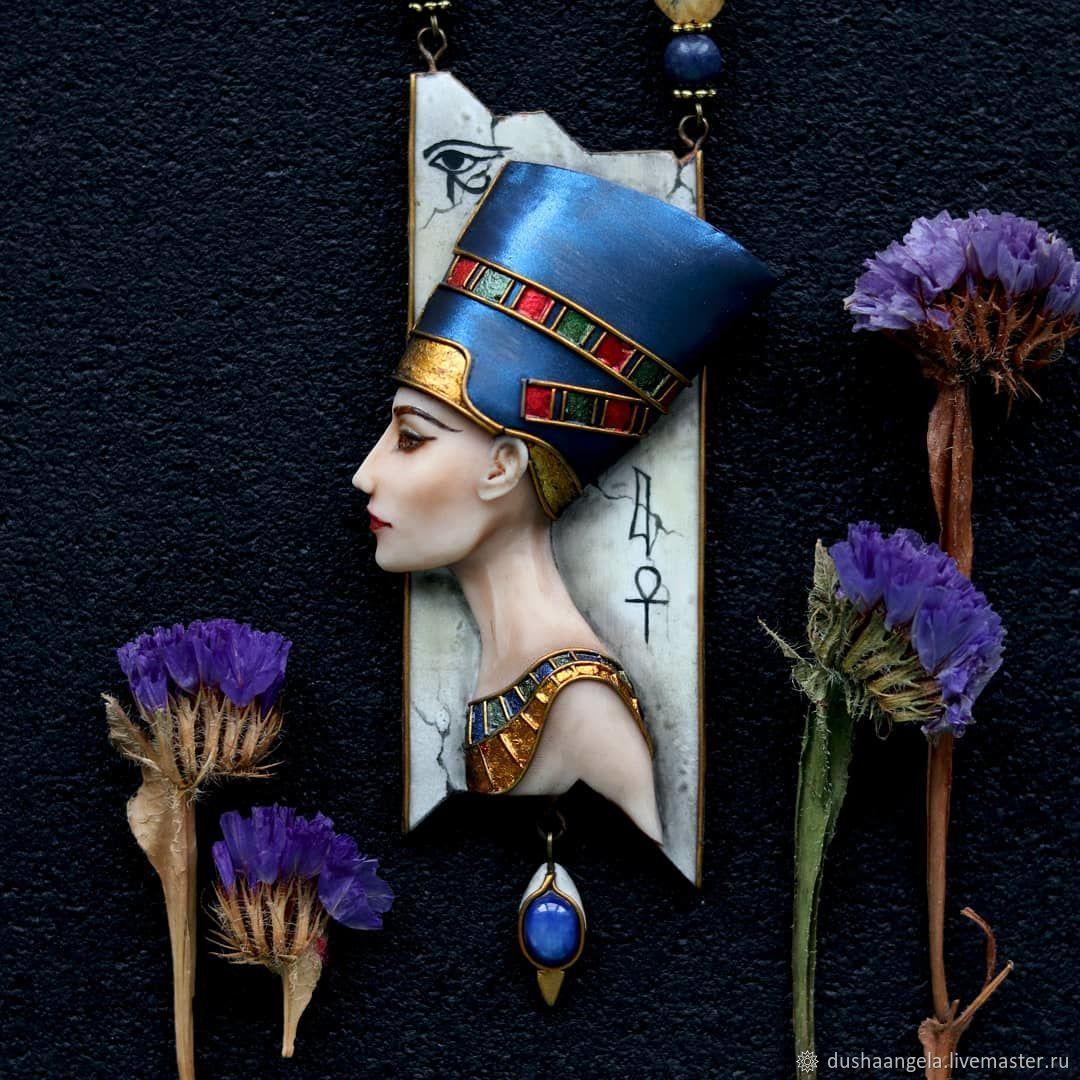 Necklace 'Nefertiti' sculpture, miniature, Necklace, Vladimir,  Фото №1