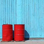 Картины и панно ручной работы. Ярмарка Мастеров - ручная работа Красные бочки. Handmade.