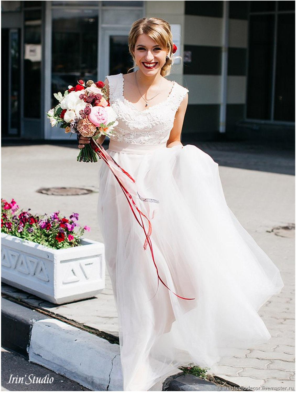 78b9ae847d4 Одежда и аксессуары ручной работы. Ярмарка Мастеров - ручная работа. Купить  Свадебное платье в ...