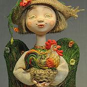 """Куклы и игрушки ручной работы. Ярмарка Мастеров - ручная работа """"Лесной ангел с петушком"""". Handmade."""
