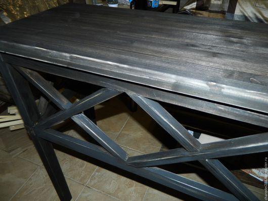 Мебель ручной работы. Ярмарка Мастеров - ручная работа. Купить Стол в стиле лофт. Handmade. Коричневый, мебель на заказ
