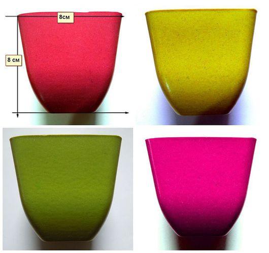 размер 8 см ,цена 45 руб(цвет красный,охра,салатовый,малиновый)