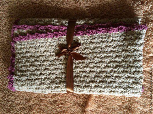 Текстиль, ковры ручной работы. Ярмарка Мастеров - ручная работа. Купить Плед для новорожденного. Handmade. Комбинированный, тепло и уют