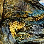 Аксессуары handmade. Livemaster - original item Scarf stole female long blue yellow. Handmade.