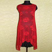 """Одежда ручной работы. Ярмарка Мастеров - ручная работа Туника-платье """"Розы красные"""". Handmade."""
