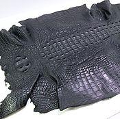 Материалы для творчества handmade. Livemaster - original item Crocodile skin, back, width 29 cm. Handmade.